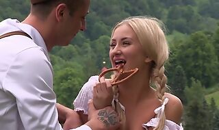 Fabulous country girl gets nicely fucked in the breadth