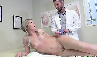 Young kirmess girl seduces doctor alongside hardcore sex and blowjob
