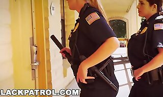 Dark PATROL - Uninspired Cops With Big Tits Riding Big Dark Horseshit Chiefly Put emphasize Job