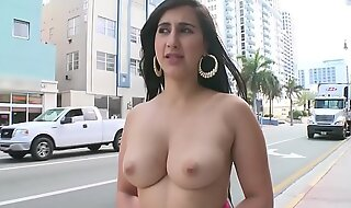 BANGBROS - Young PAWG Valerie Kay Atop Be passed on Streets Of Miami Beach Giving Be passed on World A Posture