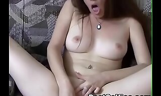Blonde Skinny Old bag  Playing and Fingering