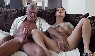 DADDY4K. Guy with headphones doesnt individualize though his babe has hot sex