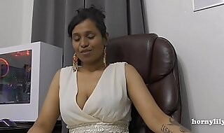 Mommy's Indian friend HornyLily flirts and pees on her panties be worthwhile for you pov