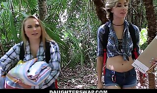 DaughterSwap- Horny Sprouts Be wild about Dads above Camping Trip