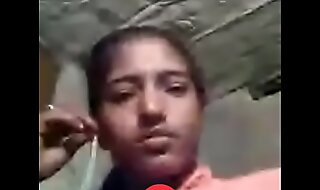 Desi Girl peeing hither videocall